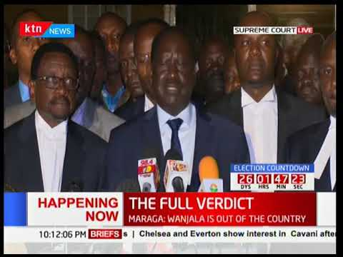 Raila Odinga's full speech after the final presidential petition ruling