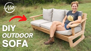 How To Build A Moḋern Outdoor Sofa   DIY