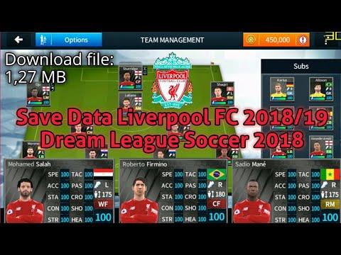 Save Data Liverpool FC 2018/19 | Dream League Soccer 2018