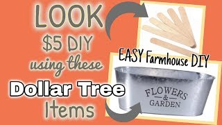 LOOK at this $5 FARMHOUSE DIY using these DOLLAR TREE items