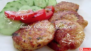 How to make Chicken Patties - tasty healthy recipe - Home made Kip burgers - chicken kebabs