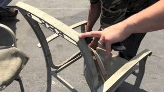 Cleaning Aluminum Lawn Chairs For Scrap