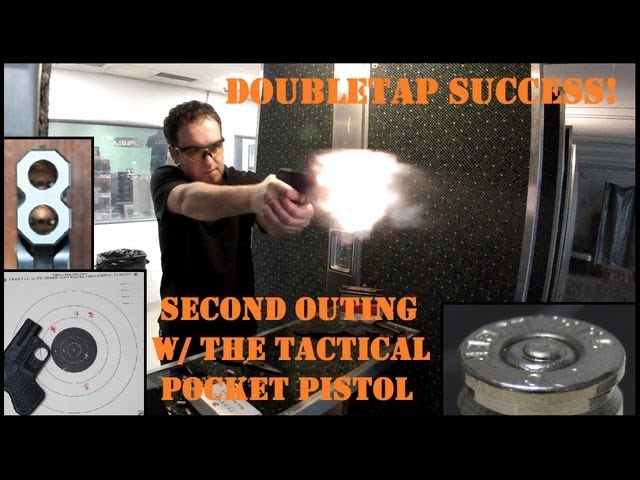 DoubleTap Range Tests: SUCCESS! Important ammo note w/ the Tactical Pocket Pistol
