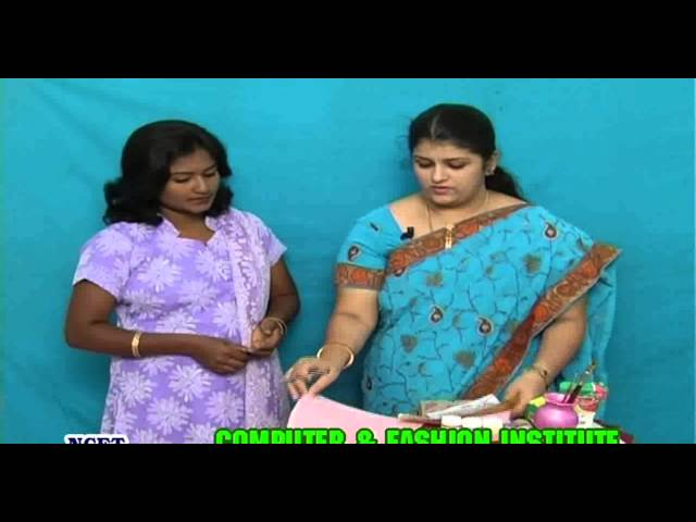 Fabric Painting on Sarees   Fabric Painting on Dresses in Tamil