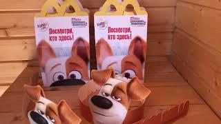 ТАЙНАЯ ЖИЗНЬ ДОМАШНИХ ЖИВОТНЫХ 2!!! Обзор и распаковка НОВЫХ игрушек из макдональдс!!!