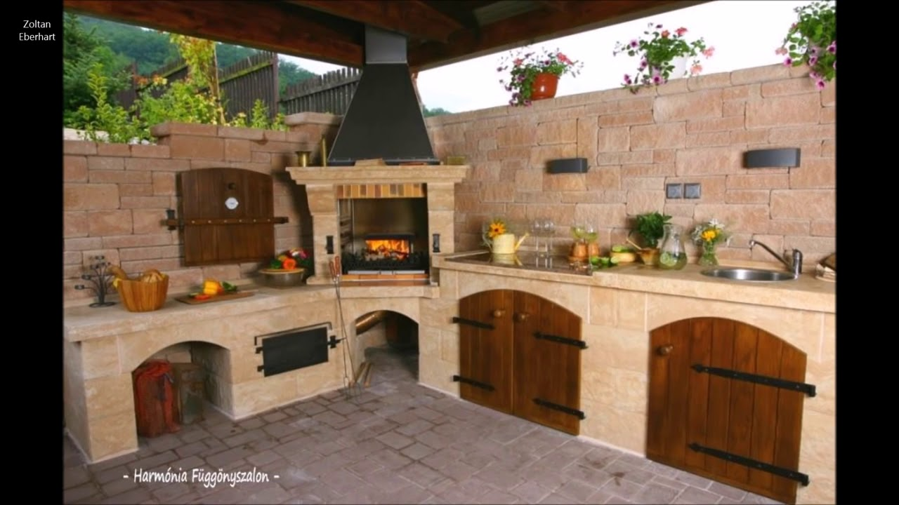 154 Outdoor Kitchen Or Fireplace Ideas