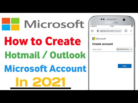 How to create hotmail microsoft account in mobile 2021 | how to make hotmail account