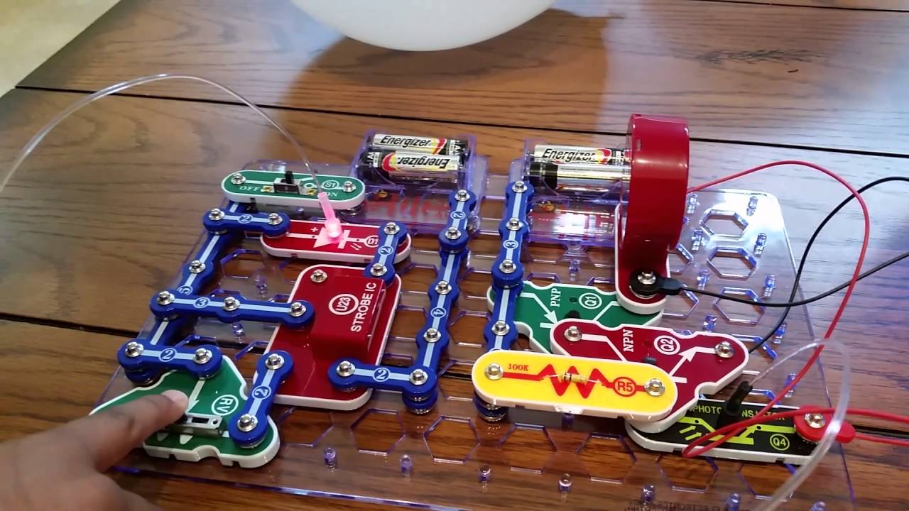 Snap Circuits Project 12 Fiber Optics Youtube Home Electromagnetism