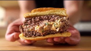 Jalapeño Popper Stuffed Burger: Tailgating Season has Begun!