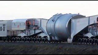 Прибытие корпуса реактора энергоблока №1 на Белорусскую АЭС