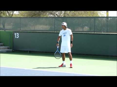 Somdev Devvarman Practicing