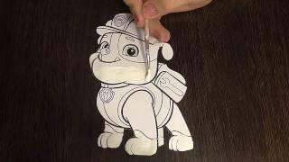 Раскраски для детей - Щенячий патруль. Крепыш
