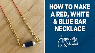 Red White and Blue Bar Necklace   Jewelry 101