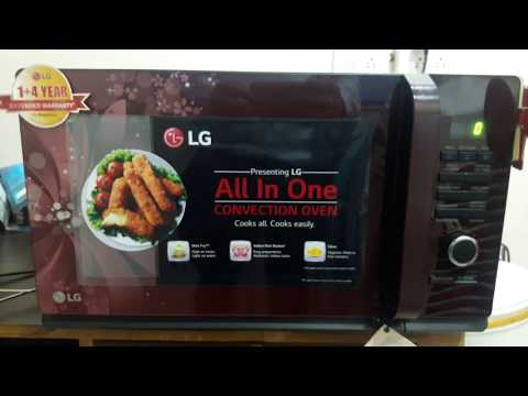 how to use LG 32 liter convection microwave model MC3286BRUM full demo
