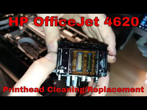 HP OfficeJet 4620 • Printhead Manual Cleaning / Replacement