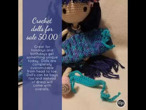 Crochet Dolls For Sale Something From Nothing By Robin Youtube