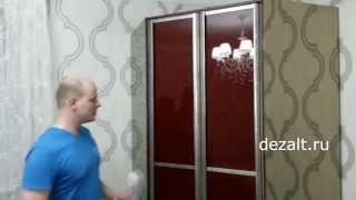 Шкаф угловой с распашными дверьми в спальню(Необычный шкаф. На боковины приклеены зеркала бронза. Двери распашные из алюминиевого профиля и стекла..., 2014-10-12T20:52:06.000Z)