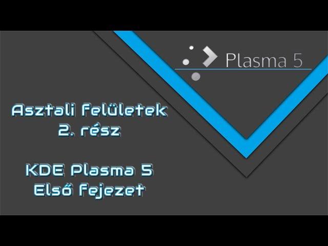 Linux Mind #43 - Asztali felületek - 2. rész | KDE Plasma 5 - Első fejezet