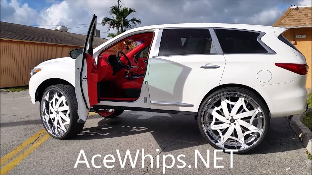 Acewhips Net Whitezoe S First In The World Infiniti Jx35 On 32 Quot Amani Youtube