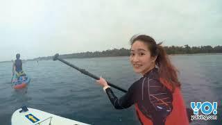 在秘境月牙灣的海面上欣賞著台灣八景之一的安平夕照,這是多麼愜意的行...