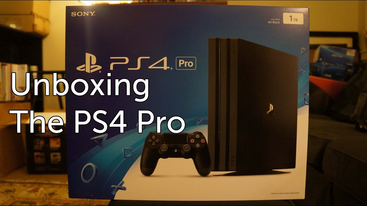 Unboxing the PS4 Pro