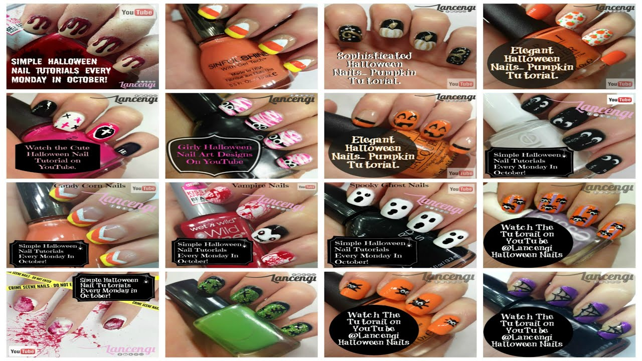 Top 18 best halloween nail art designs for beginners with short top 18 best halloween nail art designs for beginners with short nails prinsesfo Images