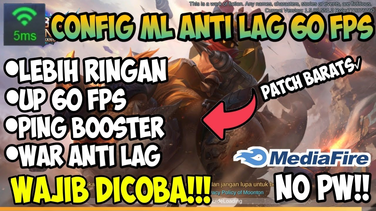 Baru!! Config 60 Fps Fast Procces + Ping Stabil Patch Barts! | Mobile Legend Bang Bang