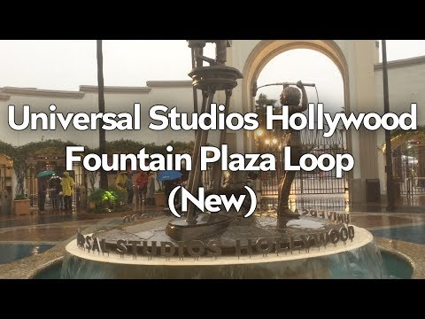 New Universal Studios Hollywood Fountain Plaza Music Loop