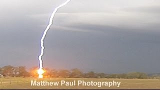 Lightning Bolt Hits Tree At Lowood - November 13th 2013 [HD]