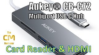 AUKEY  CB-C72 Test: Multiport USB-C Hub -  5 in 1 - Card Reader & HD...