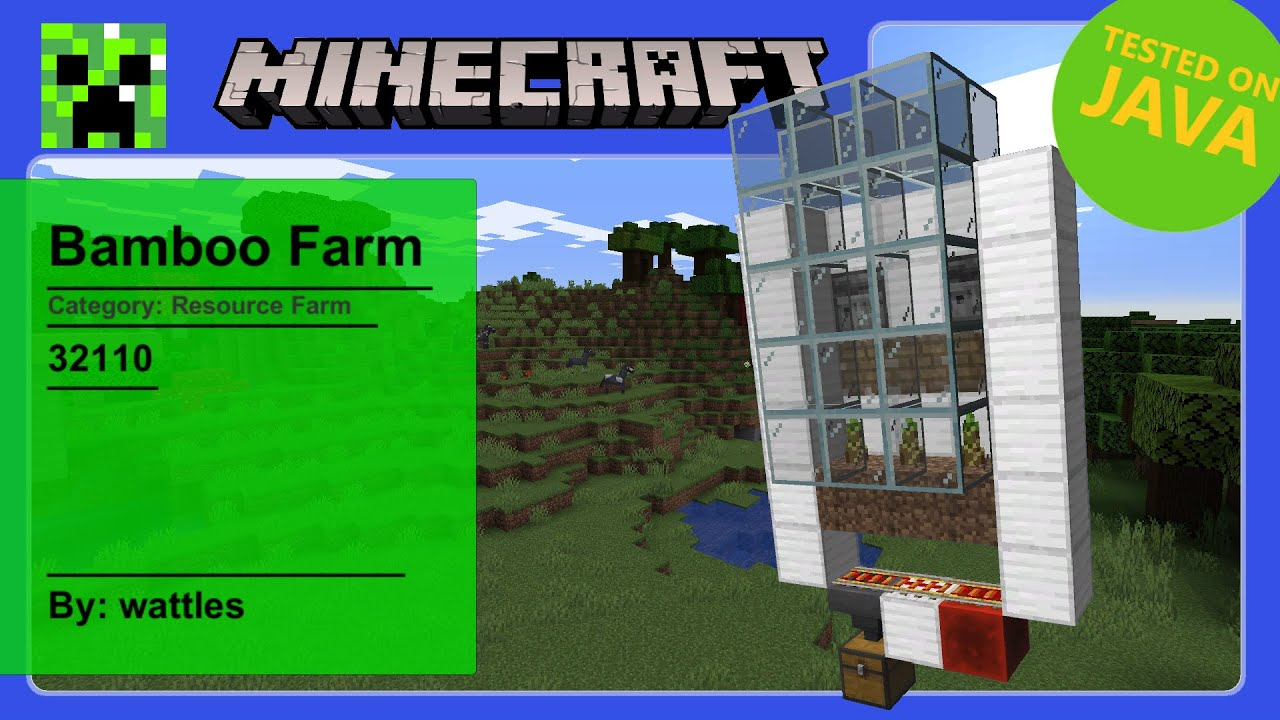 Tutorials/Bamboo farming – Official Minecraft Wiki