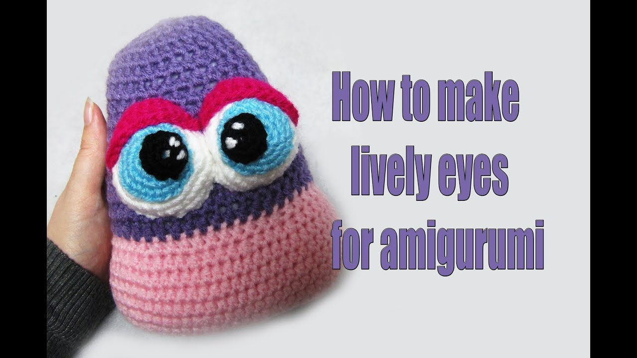 Crochet Tutorial: How to make eyes for amigurumi (French Knot ... | 720x1280