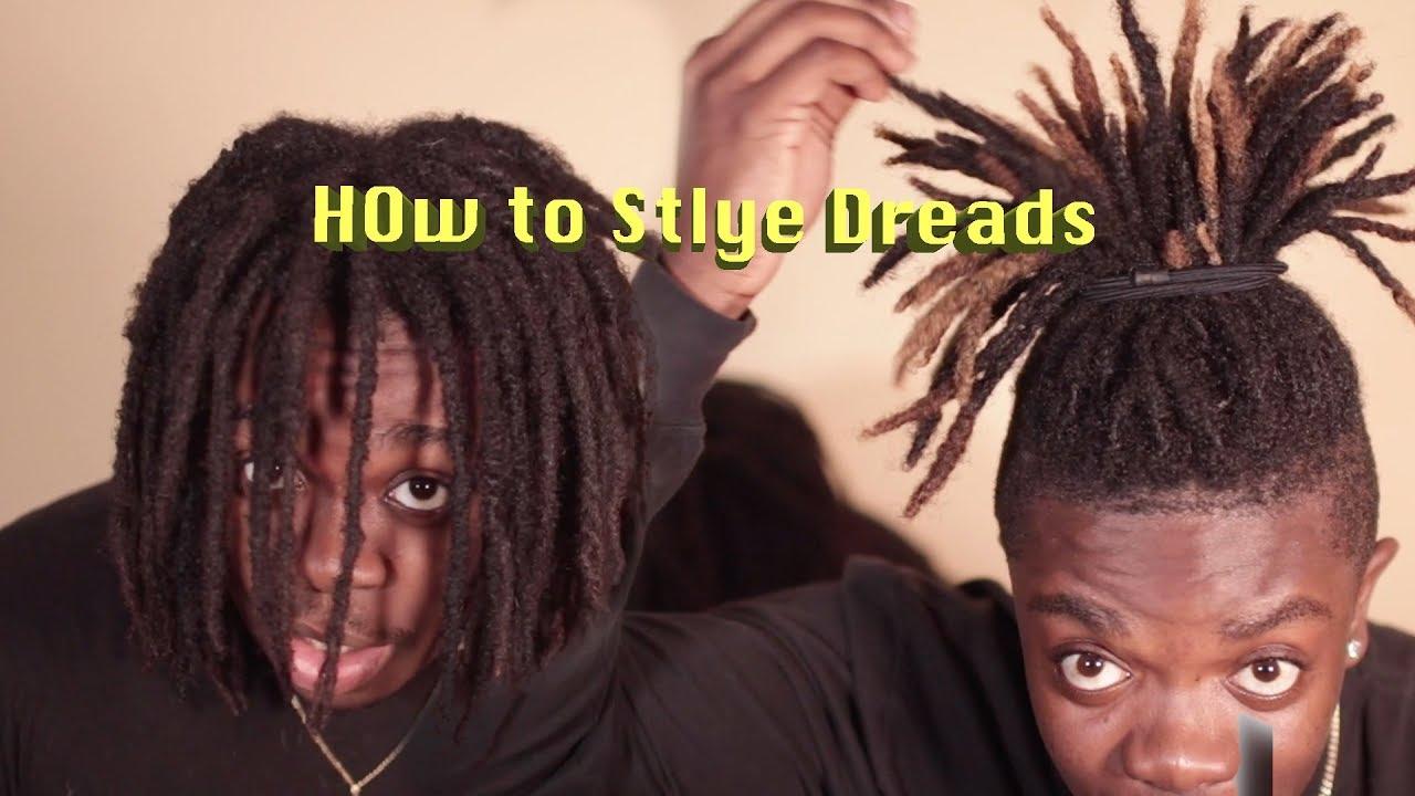 Easy Hightop Dreadlock Styles For Short And Long Hair Dreadlock Journey Youtube