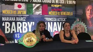 Jackie Nava y Mariana Juárez se reportan listas para cambiar golpes en Octubre