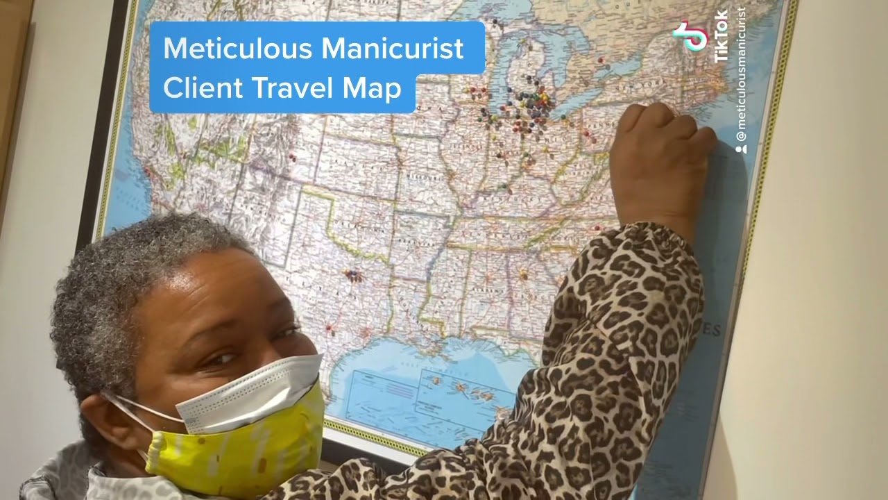 Pedicure Client Travel Map The Meticulous Manicurist