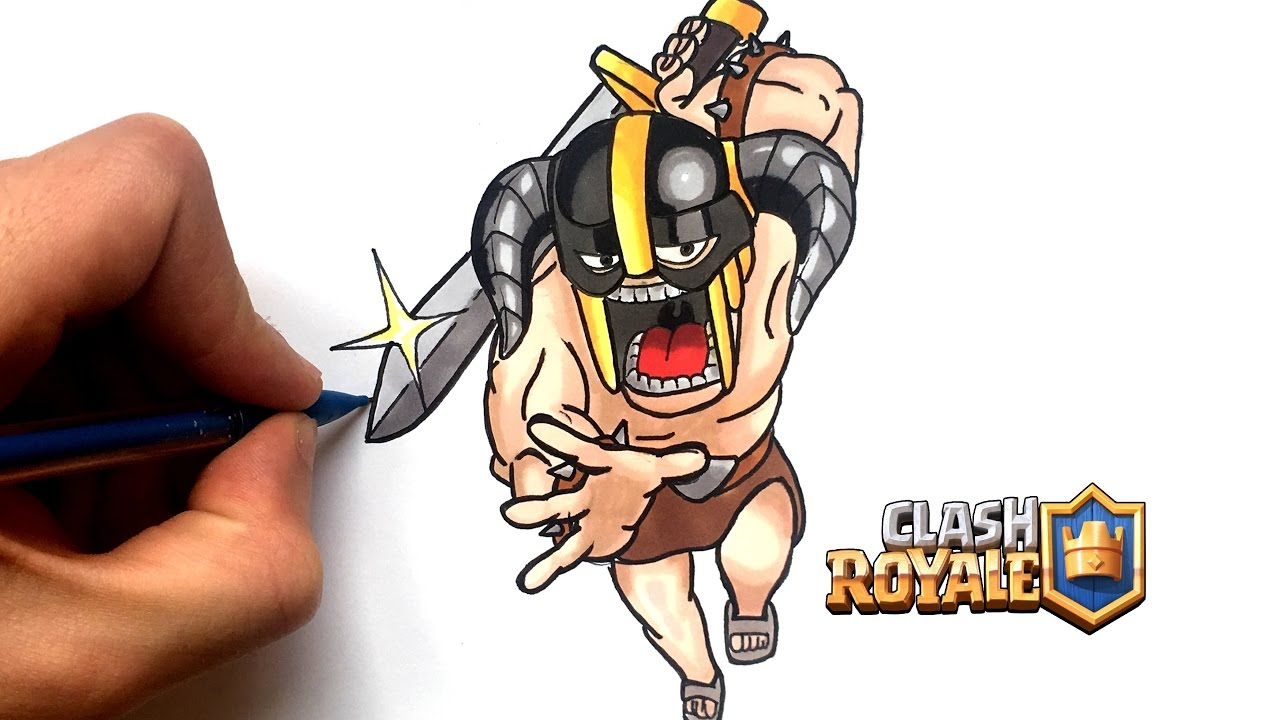 Draw Elite Barbarian Clash Royale