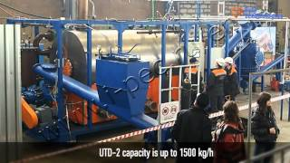 UTD-2-200 - equipment for the end of life tyres treatment