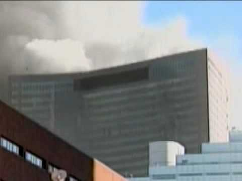 911 Demolition zoomed view of the Salomon Brothers Building   WTC7   Looking at the the northern face