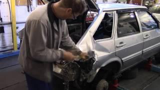 Кузовной ремонт. ВАЗ 2114, меняем заднее крыло#1. Body repair.