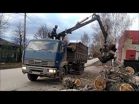 Работа ломовоза, вывоз веток и порубочных остатков, Екатеринбург, Свердловская область
