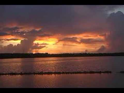 Sunrise over West End Salt Pond Anguilla