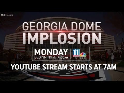 Watch live: Georgia Dome implosion
