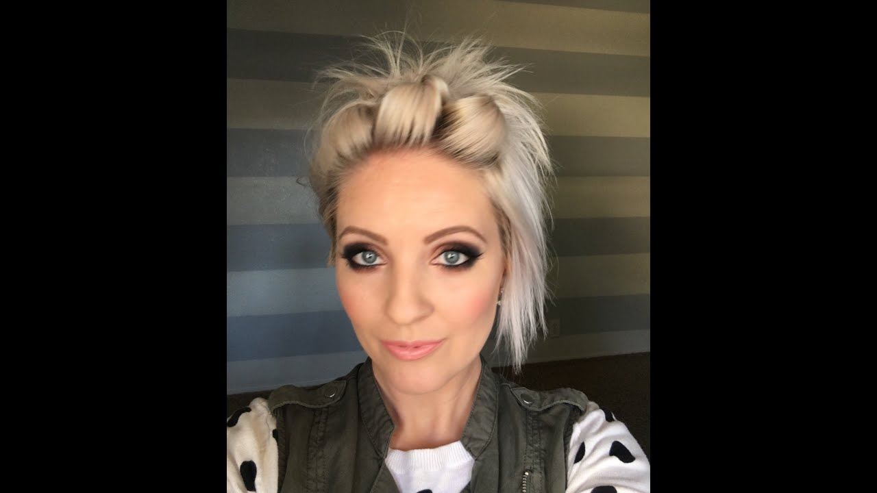 easy short hair tutorial