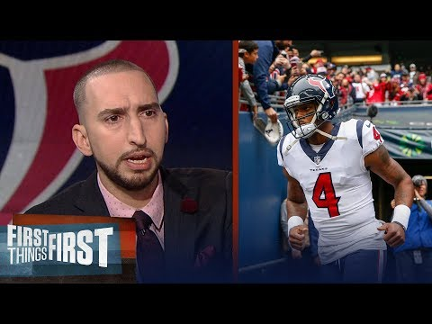 Nick Wright reacts to Texans QB Deshaun Watson tearing his ACL | FIRST THINGS FIRST
