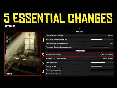 Red Dead Redemption 2 - 5 Changes You NEED To Make to Your Game Settings for a Smoother Experience