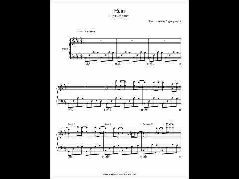 Rain Dax Johnson Piano sheet music