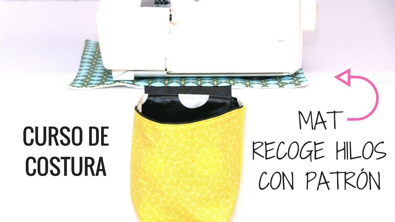 ALFOMBRA RECOGE HILOS OVERLOCKER | DIY COSTURA - YouTube