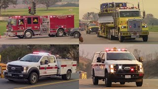 Various Fire Departments at Woolsey Fire