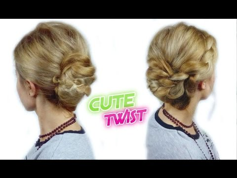 Prom Hairstyle Easy French Twist Updo With A Braid Awesome