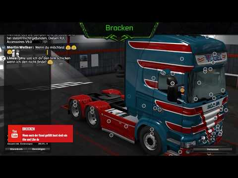ETS 2 Scania RJL Tuning - Vogel Design - MP DAF Fahrt